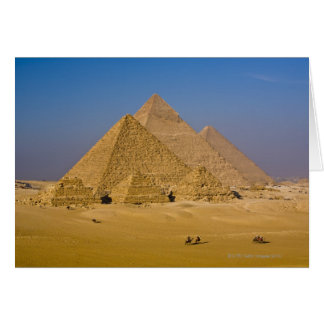 The Great Pyramids of Giza, Egypt Greeting Card