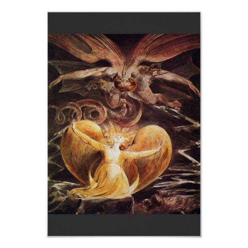 The Great Red Dragon And The Woman Clothed Poster