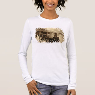 The Great Roman Bath, Bath (b/w photo) Long Sleeve T-Shirt