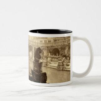 The Great Roman Bath, Bath (b/w photo) Two-Tone Coffee Mug