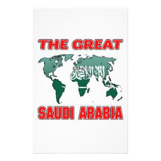 The Great SAUDI ARABIA. Customised Stationery