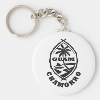The great seal of Guam Basic Round Button Key Ring