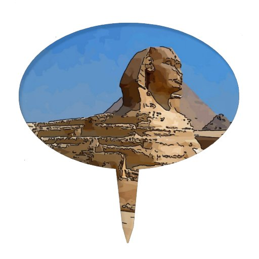 The Great Sphinx of Giza Cake Topper