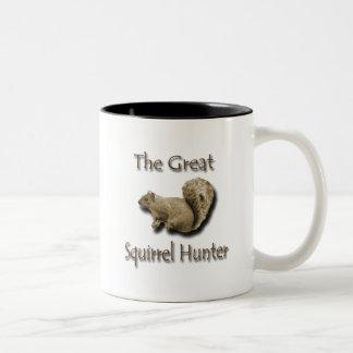 The Great Squirrel Hunter brown Mug