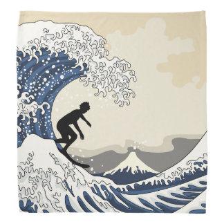 The Great Surfer of Kanagawa Bandana