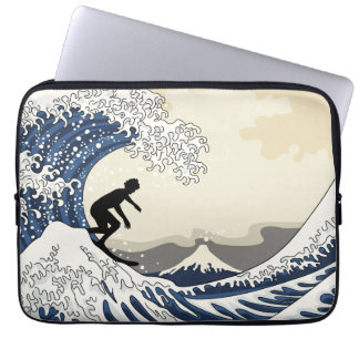 The Great Surfer of Kanagawa Laptop Computer Sleeves