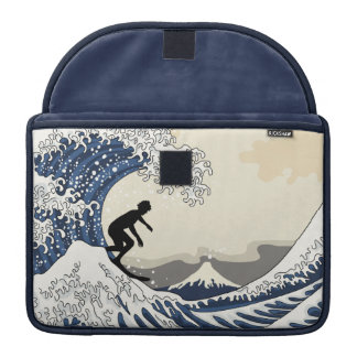 The Great Surfer of Kanagawa Sleeves For MacBook Pro