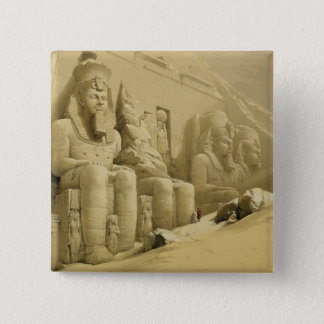 """The Great Temple of Abu Simbel, Nubia, from """"Egypt 15 Cm Square Badge"""