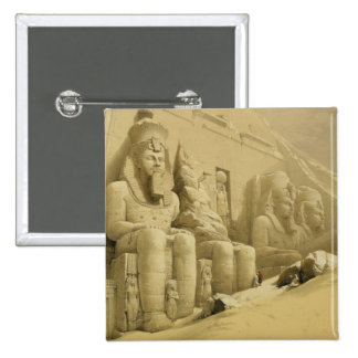 "The Great Temple of Abu Simbel, Nubia, from ""Egypt 15 Cm Square Badge"