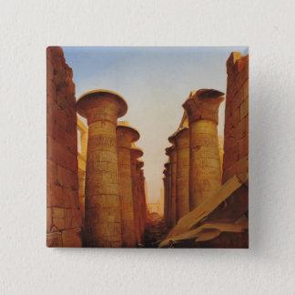 The Great Temple of Amun at Karnak 15 Cm Square Badge