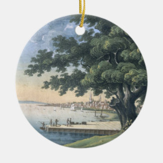 The Great Tree of Kingston with a view of Philadel Christmas Ornament