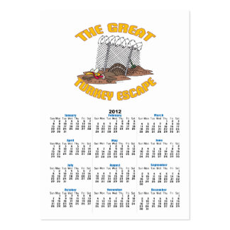the great turkey escape thanksgiving day humor business cards
