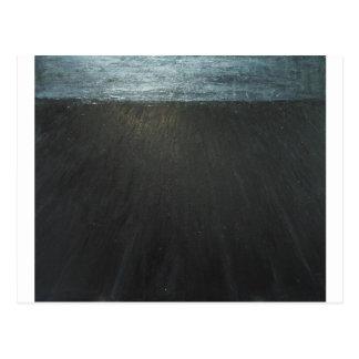 The Great Wall ( black minimalism painting ) Postcard