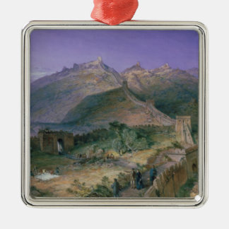 The Great Wall of China, 1886 (w/c) Christmas Ornament