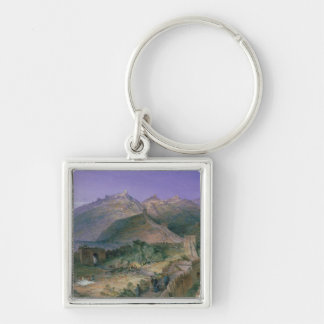 The Great Wall of China, 1886 (w/c) Key Ring
