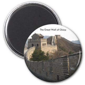 The Great Wall of China 6 Cm Round Magnet