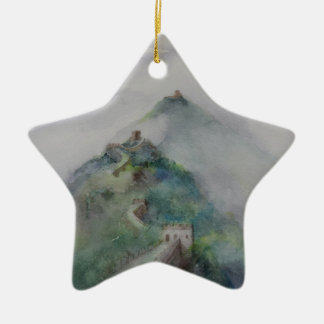 The Great Wall of China Ceramic Star Decoration