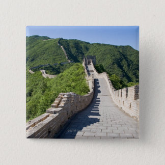 The Great Wall of China in Beijing, China 15 Cm Square Badge