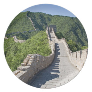 The Great Wall of China in Beijing, China Plate