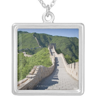 The Great Wall of China in Beijing, China Silver Plated Necklace