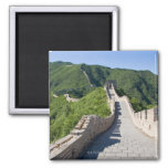 The Great Wall of China in Beijing, China Square Magnet