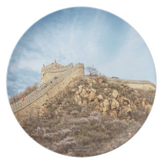 The great wall of China outside Beijing Plate