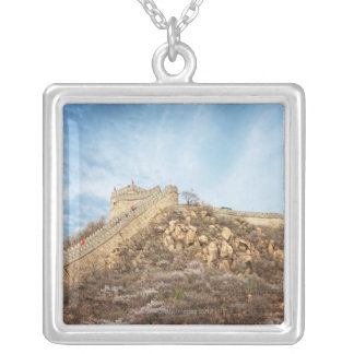 The great wall of China outside Beijing Silver Plated Necklace