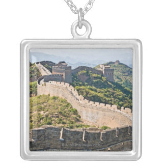 The Great Wall of China Square Pendant Necklace