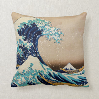 The Great Wave by Hokusai Japanese Cushion