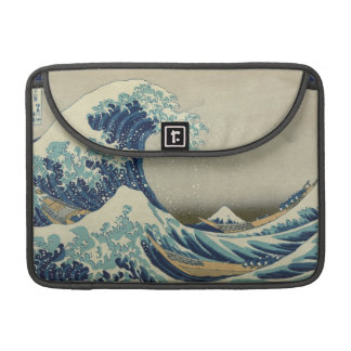 The Great Wave by Hokusai, Vintage Japanese Art Sleeves For MacBook Pro