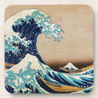 The Great Wave by Hokusai Vintage Japanese Coaster