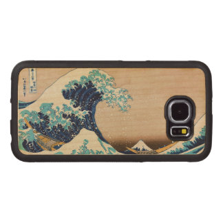 The Great Wave by Hokusai Vintage Japanese Wood Phone Case