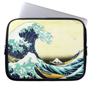The Great Wave by Katsushika Hokusai (葛飾北斎) Laptop Sleeve