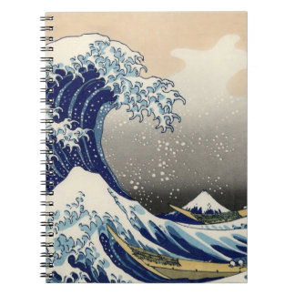 """The Great Wave"" copy of Hokusai's original c.1930 Notebooks"