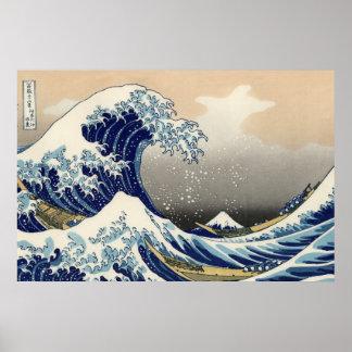 """The Great Wave"" copy of Hokusai's original c.1930 Print"