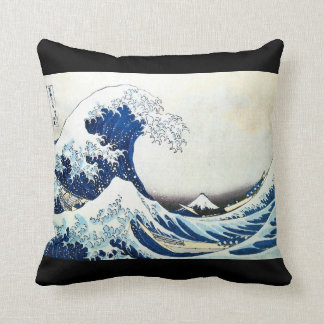 The Great Wave Japanese Painting by Hokusai Pillow