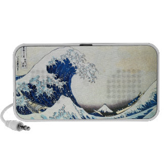 """""""The Great Wave"""" Japanese Painting by Hokusai Speaker System"""