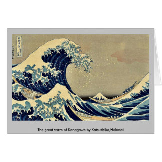 The great wave of Kanagawa by Katsushika Hokusai Greeting Cards