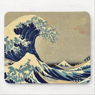 The great wave of Kanagawa by Katsushika Hokusai Mousepads