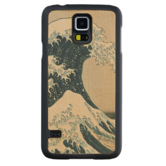 The Great Wave of Kanagawa, Views of Mt. Fuji Maple Galaxy S5 Case