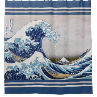 The Great Wave off Kanagawa - 神奈川沖浪裏 Shower Curtain