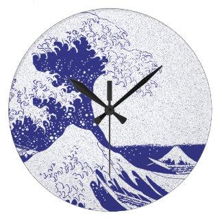 The Great Wave off Kanagawa (神奈川沖浪裏) Wall Clocks