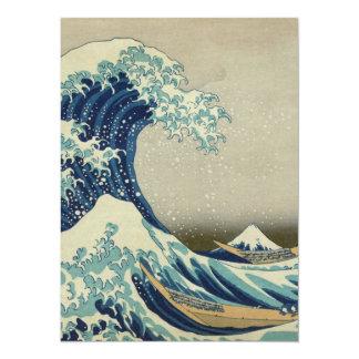 The Great Wave off Kanagawa 14 Cm X 19 Cm Invitation Card