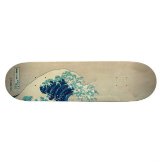 The Great Wave off Kanagawa 21.6 Cm Old School Skateboard Deck