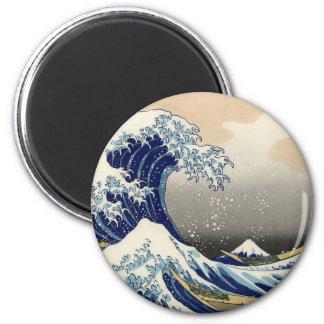 The Great Wave off Kanagawa 6 Cm Round Magnet
