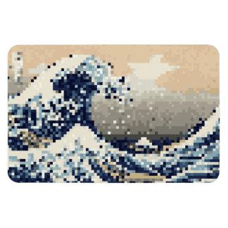 The Great Wave off Kanagawa 8 Bit Pixel Art Magnets