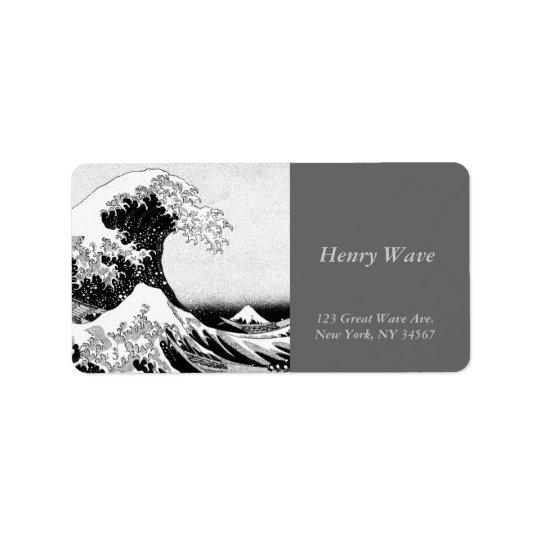 The Great Wave off Kanagawa Address Label