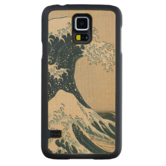 The Great Wave off Kanagawa Carved Maple Galaxy S5 Case