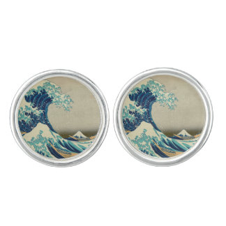 The Great Wave off Kanagawa Cufflinks