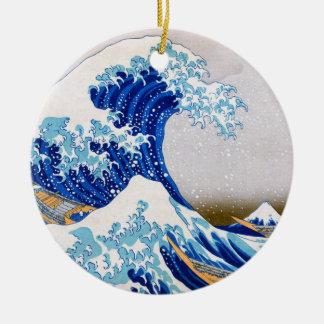 The Great Wave off Kanagawa, Hokusai Christmas Ornament